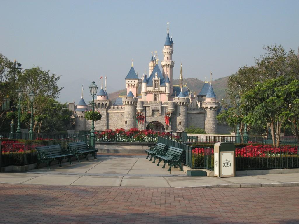 Disneyland Castle in Hong Kong