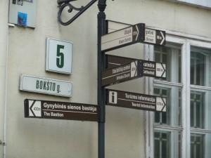 Vilnius Street Sign