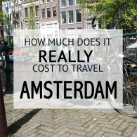 How Much Does It Cost To Travel Amsterdam Budget