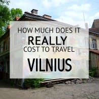 How Much Does It Cost To Travel Vilnius Budget