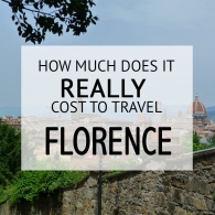 How Much Does It Cost To Travel Florence Budget