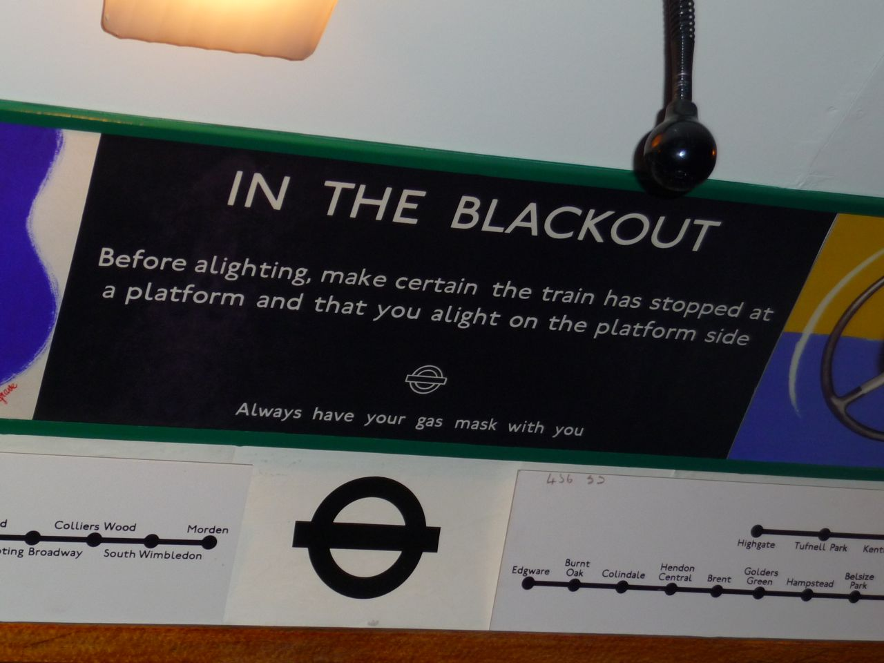 The London Blitz at Aldwych Station