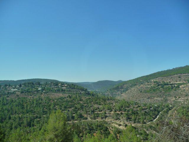 Israel Landscape North of Jerusalem