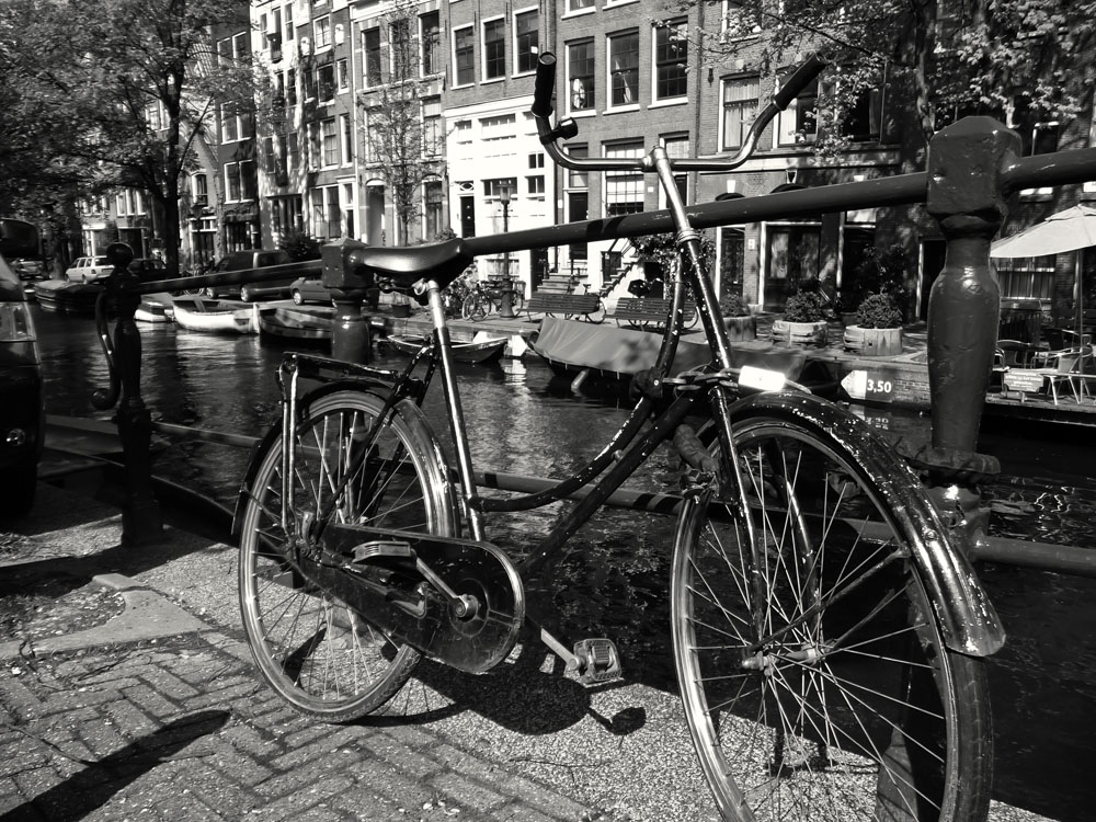 Iconically Amsterdam - Bike Next to A Canal