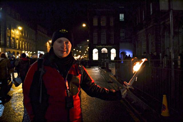 Hogmanay in Edinburgh Chris Torchlight Procession
