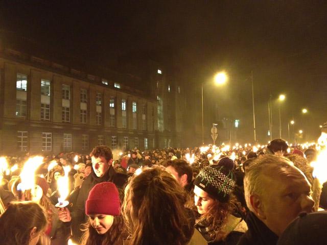 Hogmanay in Edinburgh Torchlight Procession