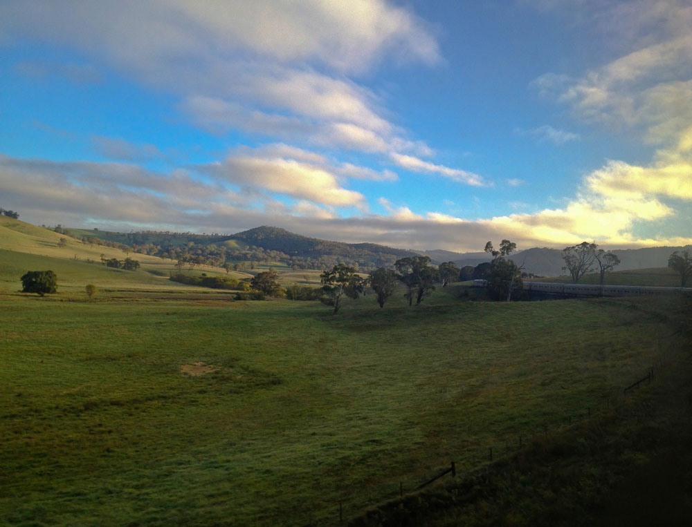 Riding The Indian Pacific Blue Mountains