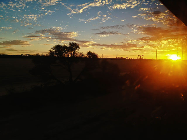 The Indian Pacific Perth To Kalgoorlie Sunset